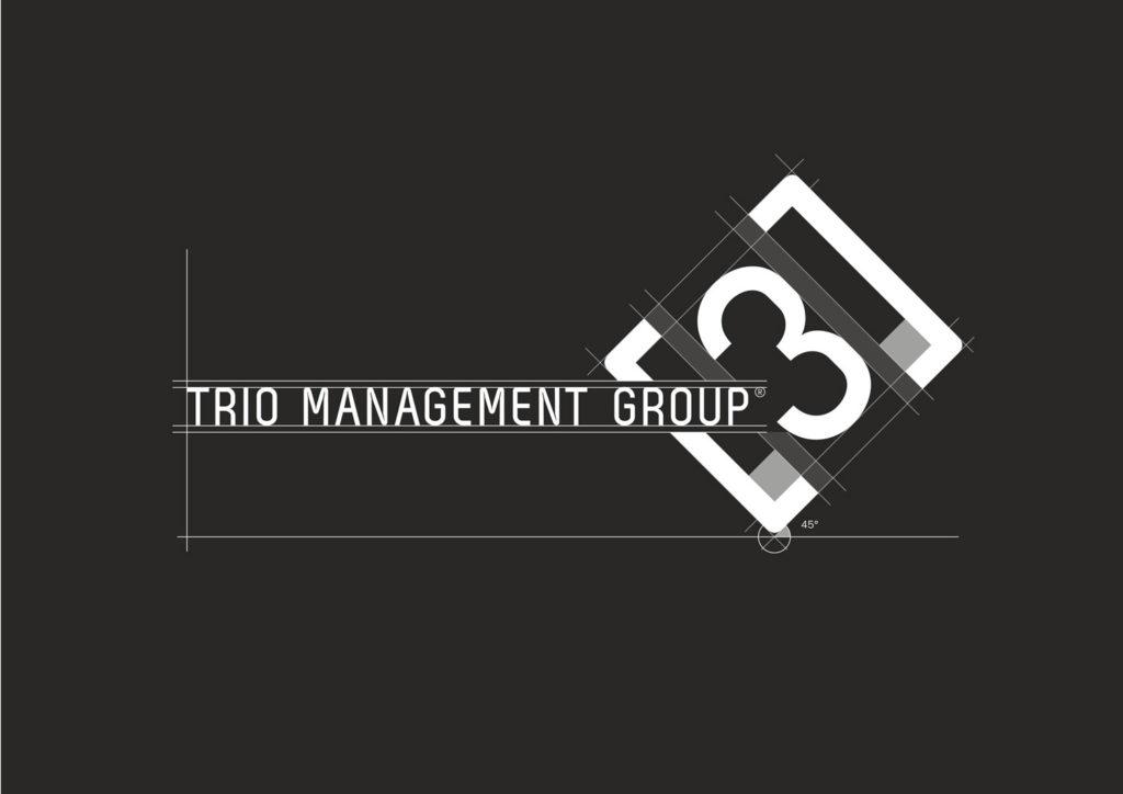 Designtouch Trio Management Group Logo Struktur